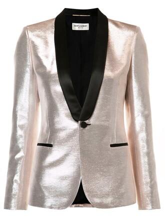 blazer women cotton grey metallic jacket