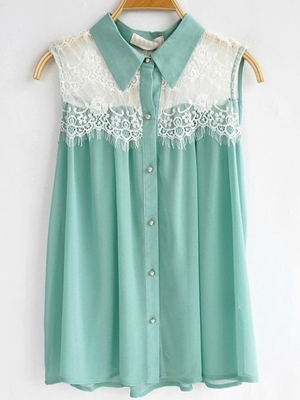 pastel blouse lace