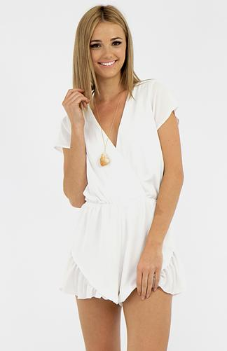Lordette Playsuit - White | Back In Stock | Clothes | Peppermayo