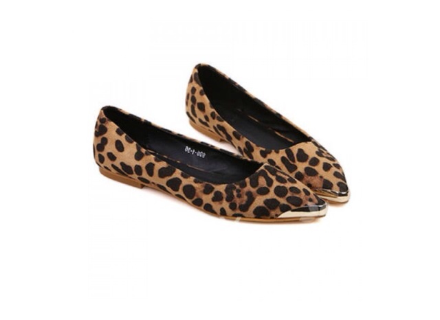 Leopard print flat mettalic shoes *free shipping* · mir · online store powered by storenvy