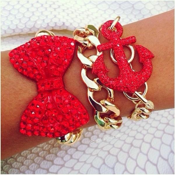 jewels gold red cute