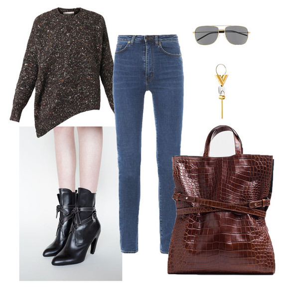 blogger shoes jewels sunglasses bag sarah co mode ton look jeans