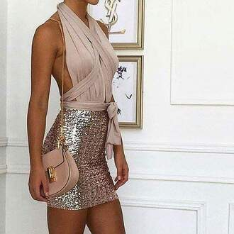 dress robes robe nude nude dress paillettes