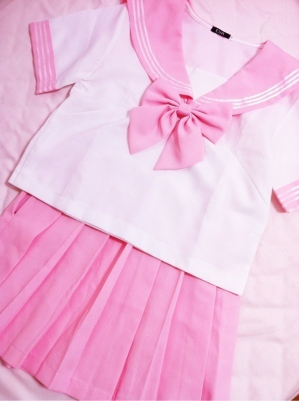 dress pink kawaii uniform cosplay cosplay
