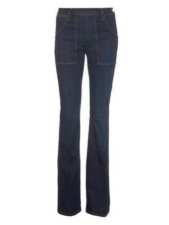 jeans flare high blue