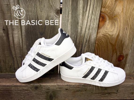 adidas white with black stripes womens