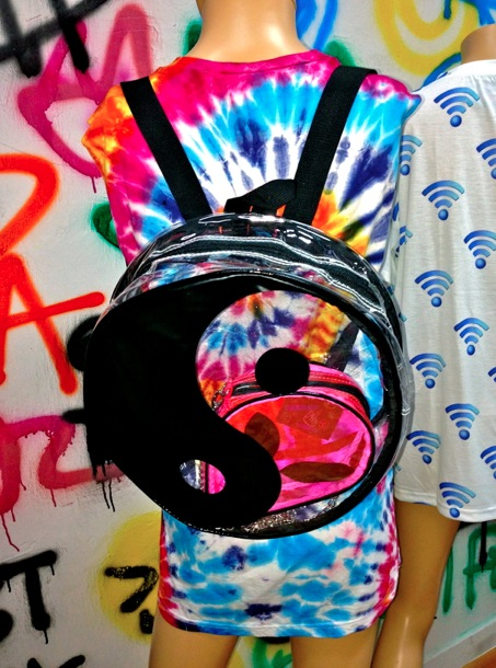 SWEET LORD O'MIGHTY! SEE THROUGH YING YANG BACKPACK