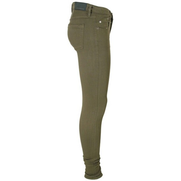 Super Distressed High Waisted Skinny Jeans In Olive Green - Olive Green Skinny Pants - Popular Pants 2017