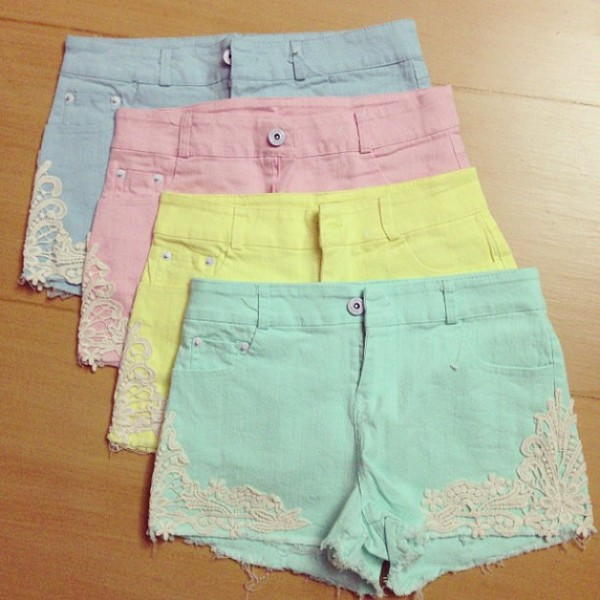 shorts candy shorts summer pants