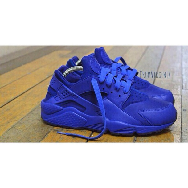 all blue huaraches