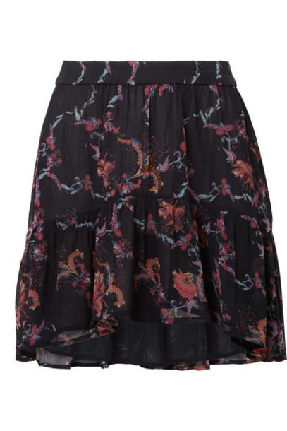 Iro skirt mini skirt mini black