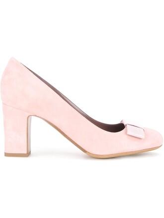 women pumps suede purple pink shoes