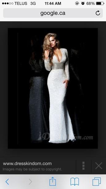 dress white white dress sparkle sparkly dress prom dress