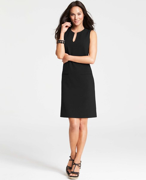 Split Neck Shift Dress | Ann Taylor