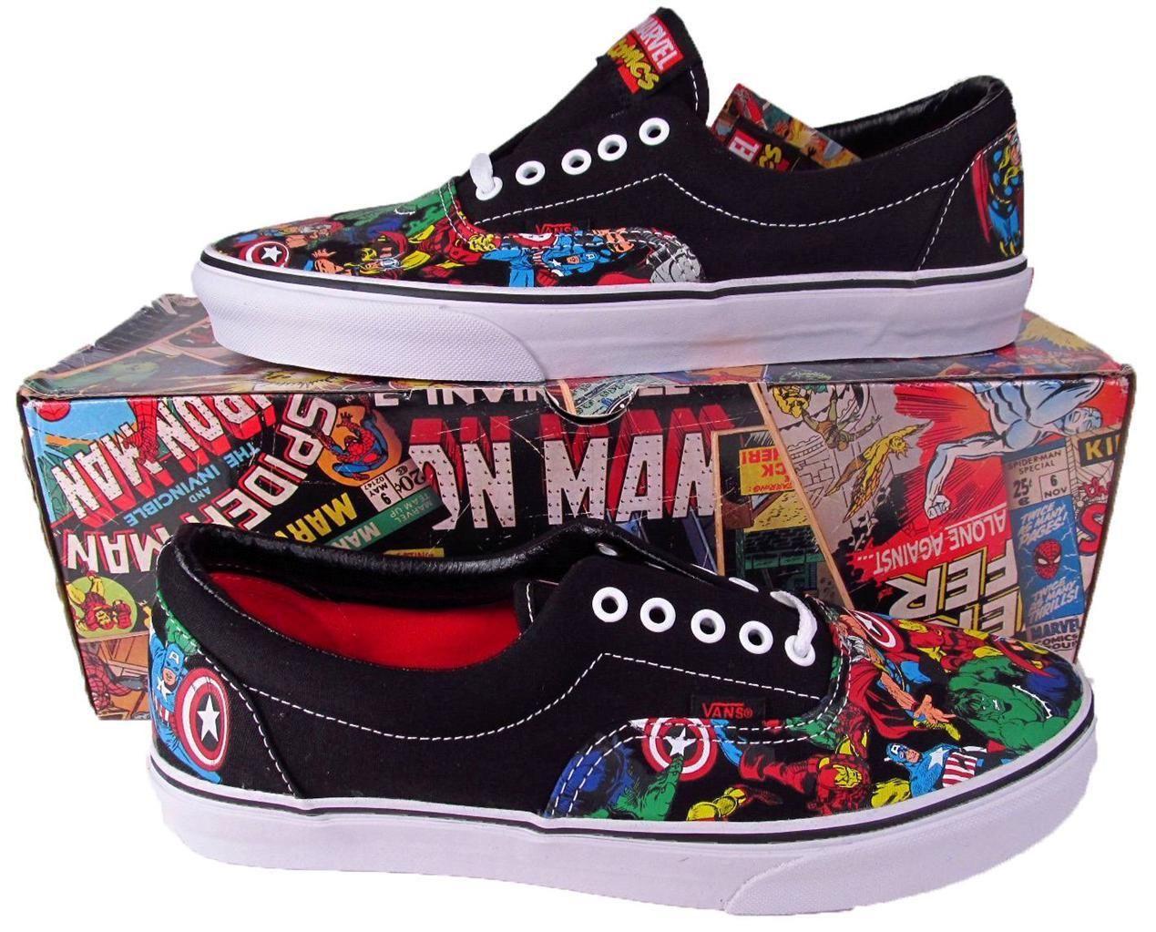 Vans mighty avengers marvel era lo skate shoe sneaker iron man hulk thor 0049974