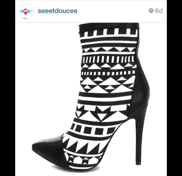 white, boots, booties, heels