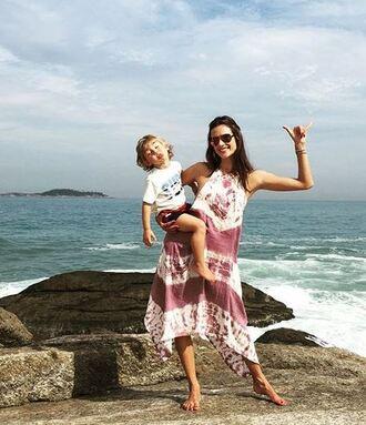 dress alessandra ambrosio summer dress summer outfits beach instagram