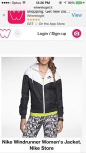 jacket,nike wind runner