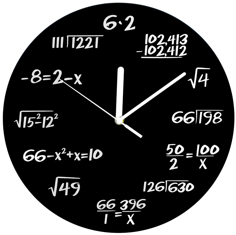 Amazon Com Decodyne Math Clock Unique Wall Clock