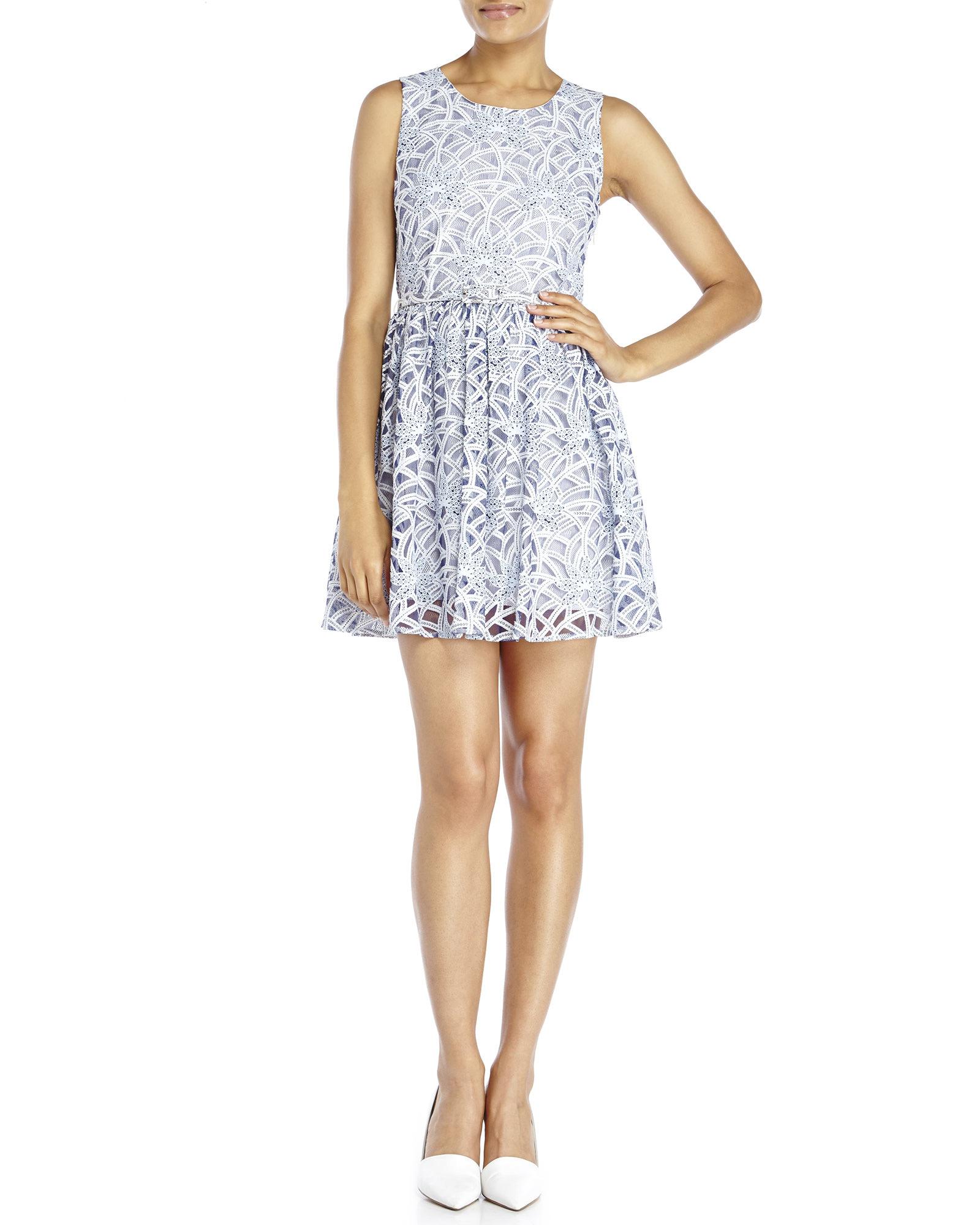 Yumi lace skater dress shop women 39 s clothing for Century 21 dress shirts