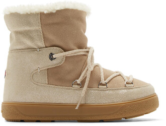 boots ankle boots beige shoes