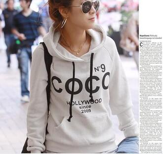 jacket hoddie chanel shirt hollywood white sweater beautiful pretty cute gorgeous hot sexy fashion fashionista style stylish trendy 2014 summer college spring outfits