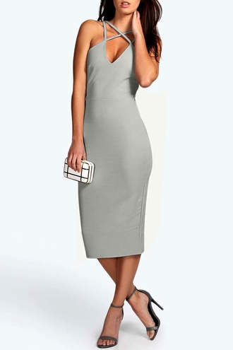 dress grey sexy formal classic elegant pretty fashionista v neck dress beautiful elegant dress sexy dress spaghetti strap grey dress
