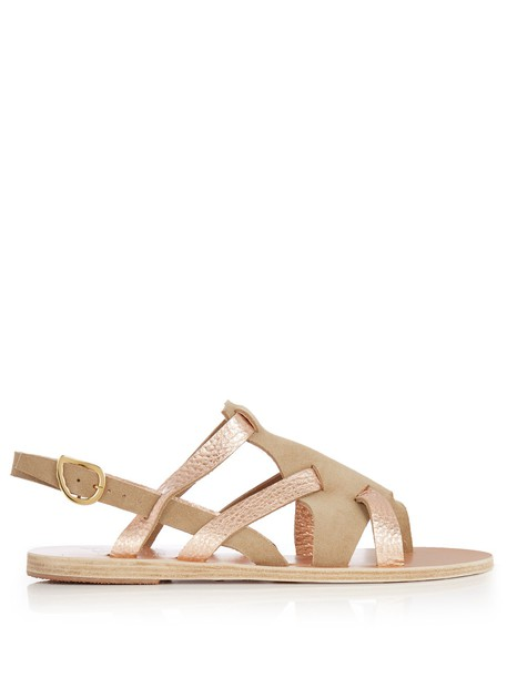 Ancient Greek Sandals sandals leather suede gold nude shoes