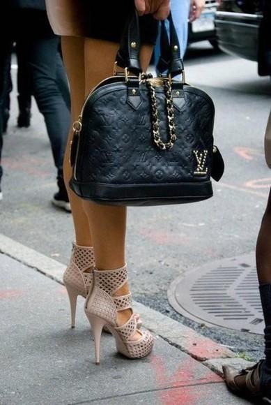 bag black bag shoes high heels
