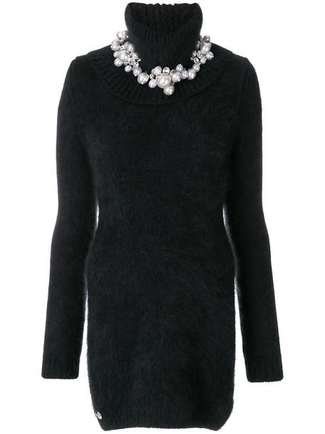 PHILIPP PLEIN dress sweater dress high women spandex black
