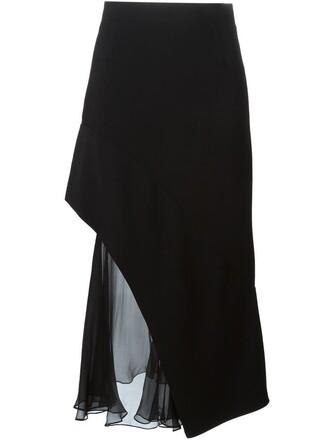 skirt sheer black