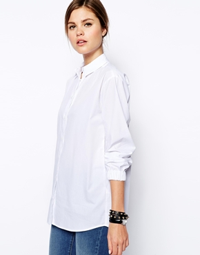 ASOS | ASOS Boyfriend Shirt with Elasticated Cuff at ASOS
