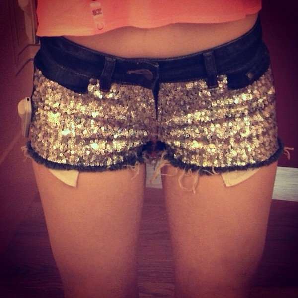 shorts glitter glitter shorts cool sparkle sparkly shorts gold sequins Sequin shorts