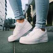 shoes,sneakers,white,nike,adidas,high tops,nike high tops,white nikes,denim,air max,nike shoes,nike air force 1