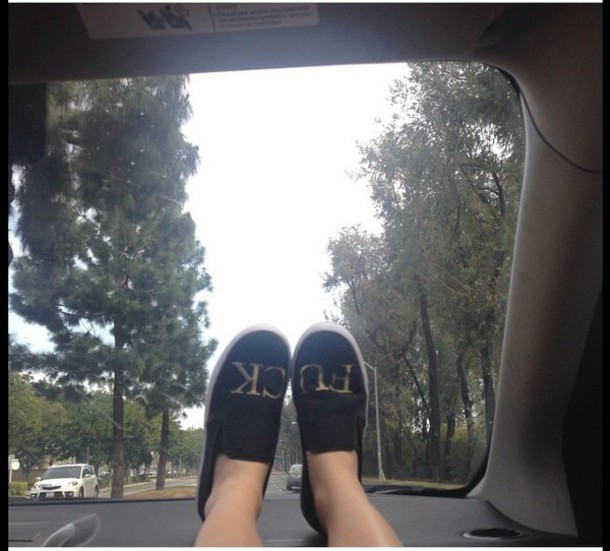 shoes black style slip on shoes