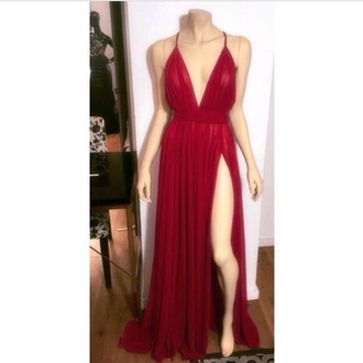 dress red dress red red maxi dress maxi dress slit skirt slit dress slit prom dresses evening dress