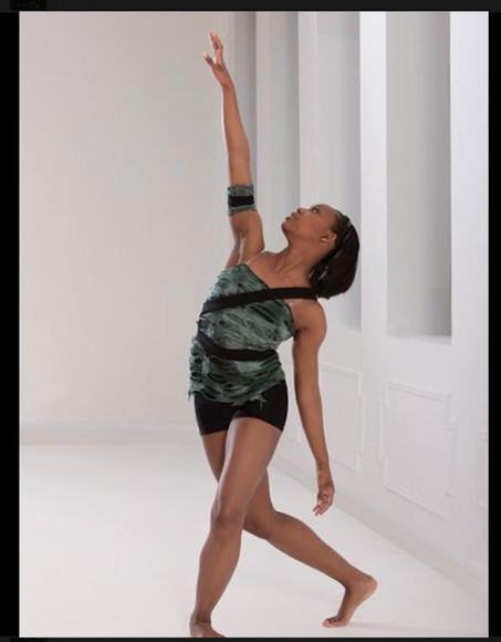 ripped dance costume lyrical contemporary $42 modern green