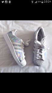 shoes,adidas superstars,adidas shoes,glitter shoes,grunge shoes