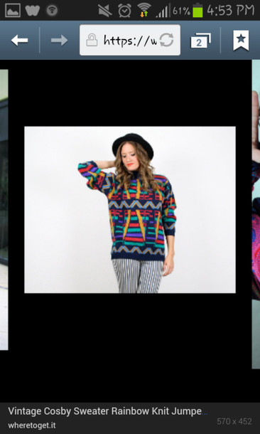 sweater cosby sweater colorful vintage rar oversized winter sweater