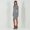 Side zip bodycon dress - grey marl