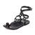 Beek Lark Gladiator Sandals - Black/Black