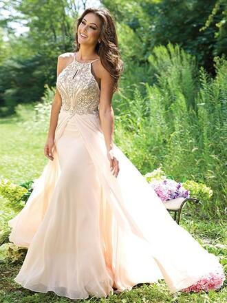 dress sparkle gold sparkle dreas strappy flowy tan color cream flawless prom dress prom sweet 16 dresses pretty pretty dress formal classy stunning dress stunning prom dress