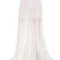 Plisse silk organza skirt