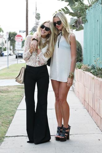 cheyenne meets chanel shirt pants jewels sunglasses