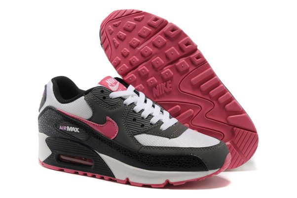 Nike Air Max 90 GS Pure Platinum Pink Black Anthracite [nike-221] - $76.45 :