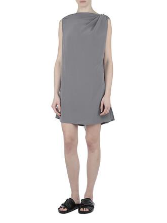 dress silk dress silk grey