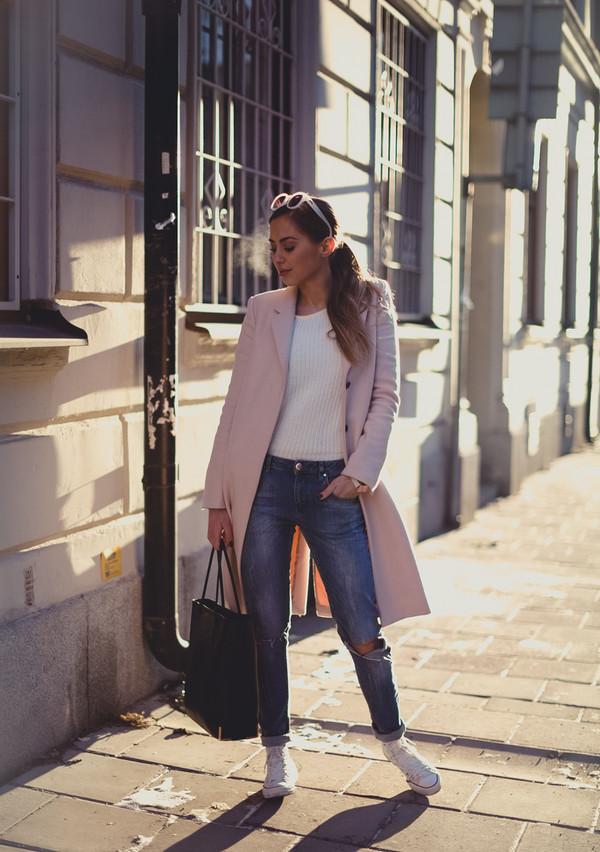 kenza jeans coat bag sunglasses jewels