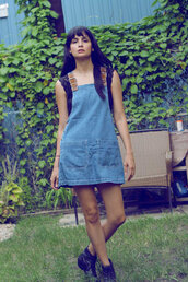 dress,jean overall dress,90s style,grunge,90s grunge,denim overall dress,size small,denim overalls