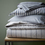 Ticking Stripe Duvet Cover   Shams - Graphite