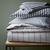 Ticking Stripe Duvet Cover   Shams - Graphite